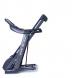 Housefit Spiro 90 iRun sklopený na transportním kolečku